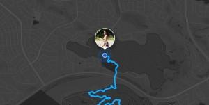 Capture de la carte produit par la fonctionnalité Beacon de Strava.