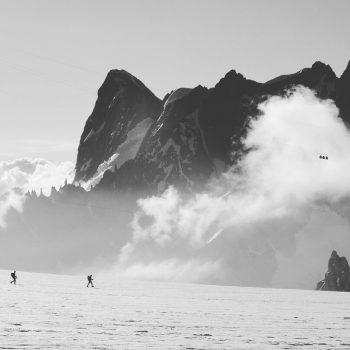 En route vers le Mont Blanc Du Tacul