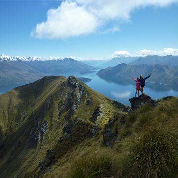 Sur les hauteurs du lac Wanaka